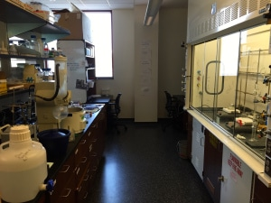 Interior of a chemistry lab at DePaul