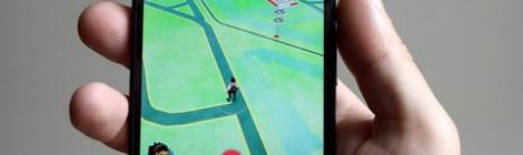 Pokemon Go on a Smartphone